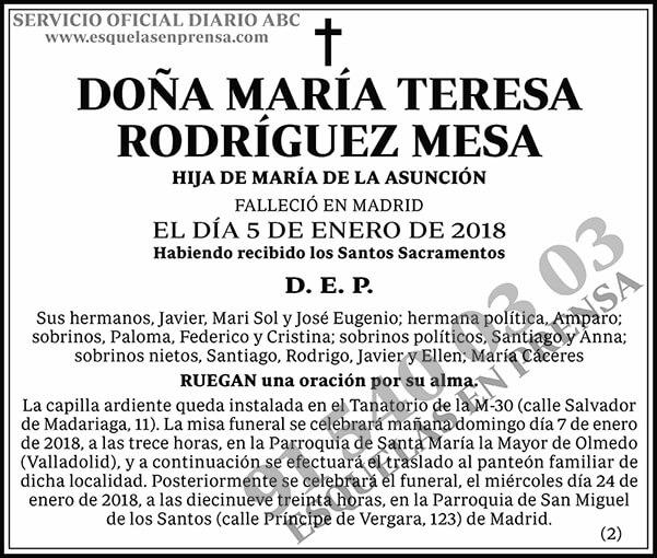 María Teresa Rodríguez Mesa